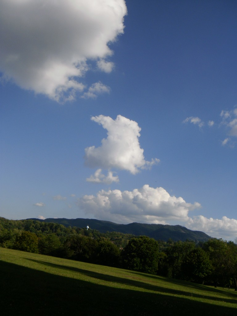 Blue skies, smilin' at me...
