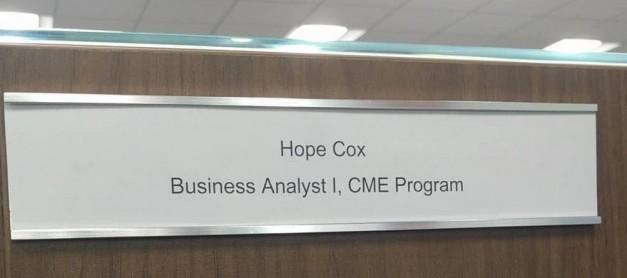 Hope Starts a New Job